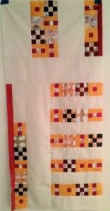 go mini or go home finished quilt top
